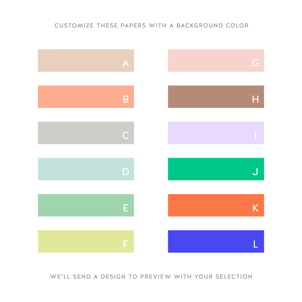 gift wrap color swatches