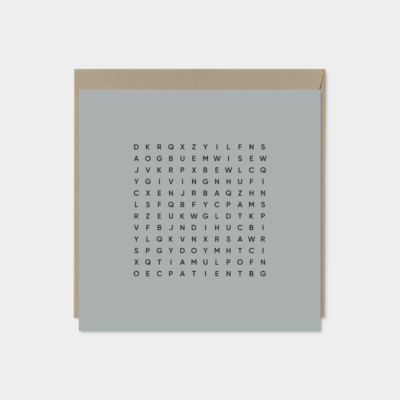 descriptive fathers day word search card