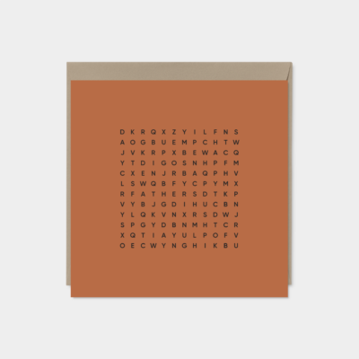 happy fathers day word search card