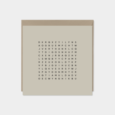 thank you dad word search fathers day card taupe
