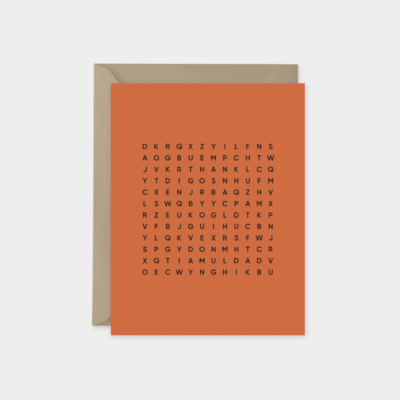 thank you dad word search fathers day card