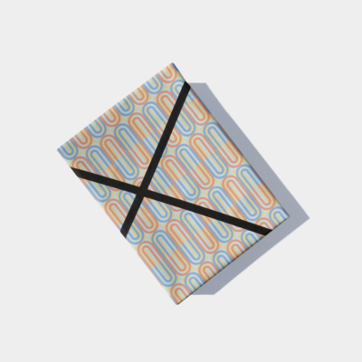 colorful geo deco pattern gift wrap