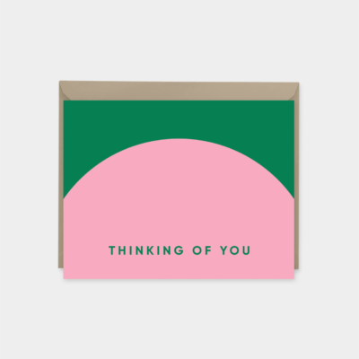 neo geo colorful thinking of you card