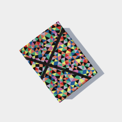 color shards gift wrap pattern