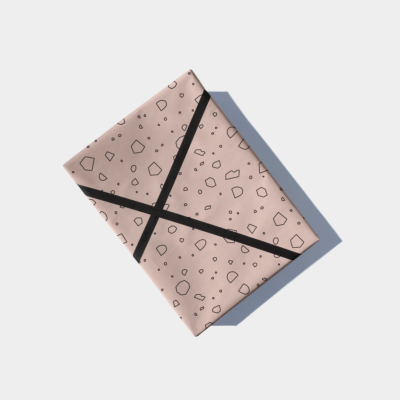 cut out shapes gift wrap - blush pink