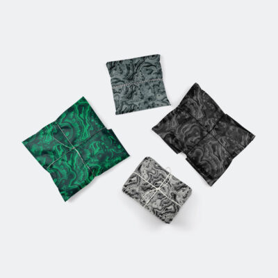 malachite gift wrap bundle