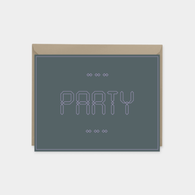 party ornate moroccan font invitation greeting card