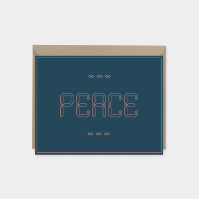 peace maroque ornate font greeting card