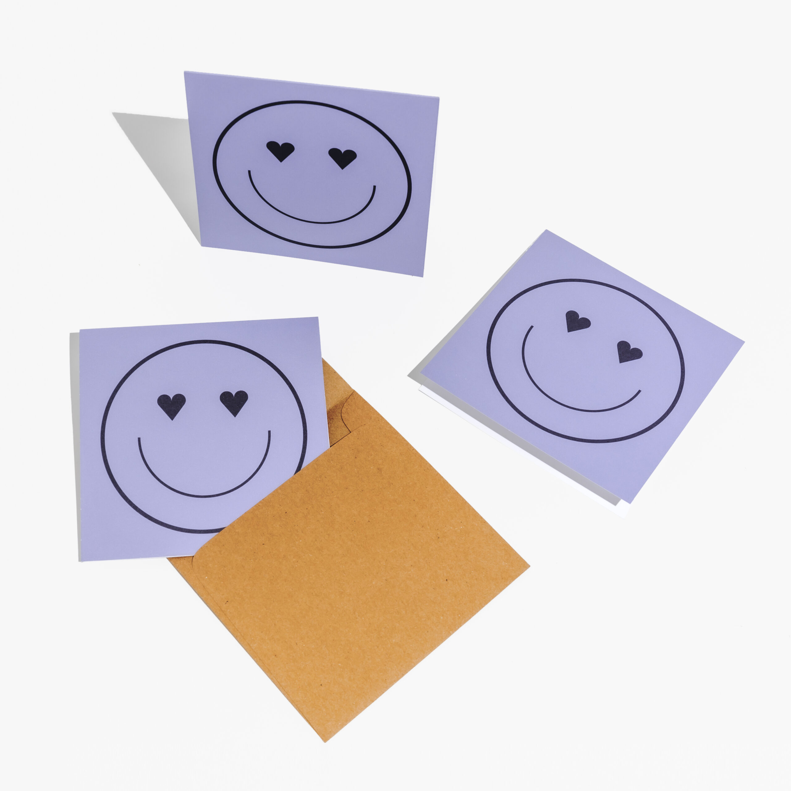 smiley hearts cards