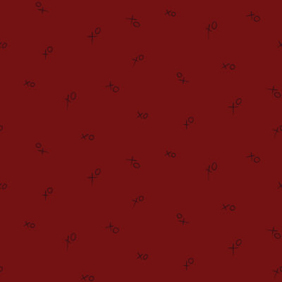 red xoxo pattern gift wrap