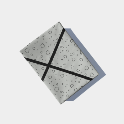 cut out shapes gift wrap - sage green