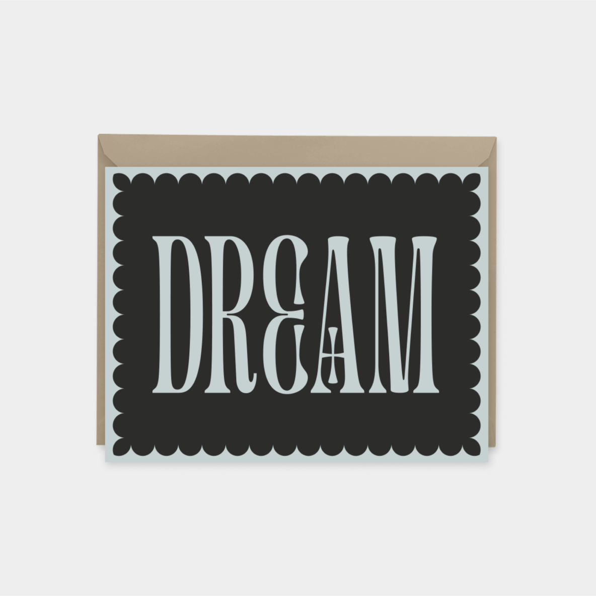 dream - ornate typography card