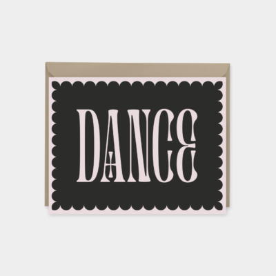 dance - ornate typography card