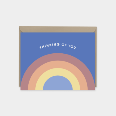 rainbow thinking of you card