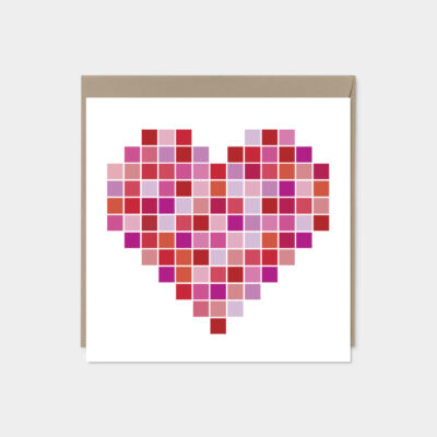color swatch valentines day card