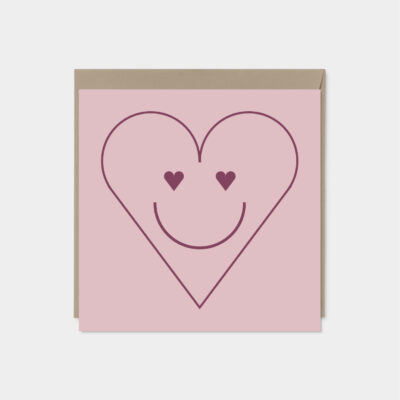Smiley Heart Valentine's Day Card