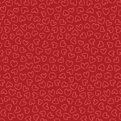hand drawn hearts pattern gift wrap