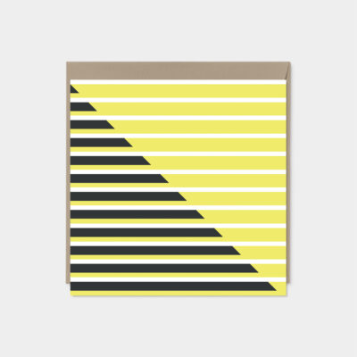 modern striped card set