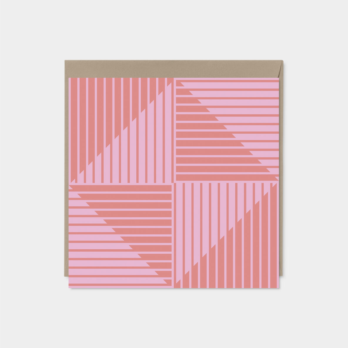 diamond striped modern card set